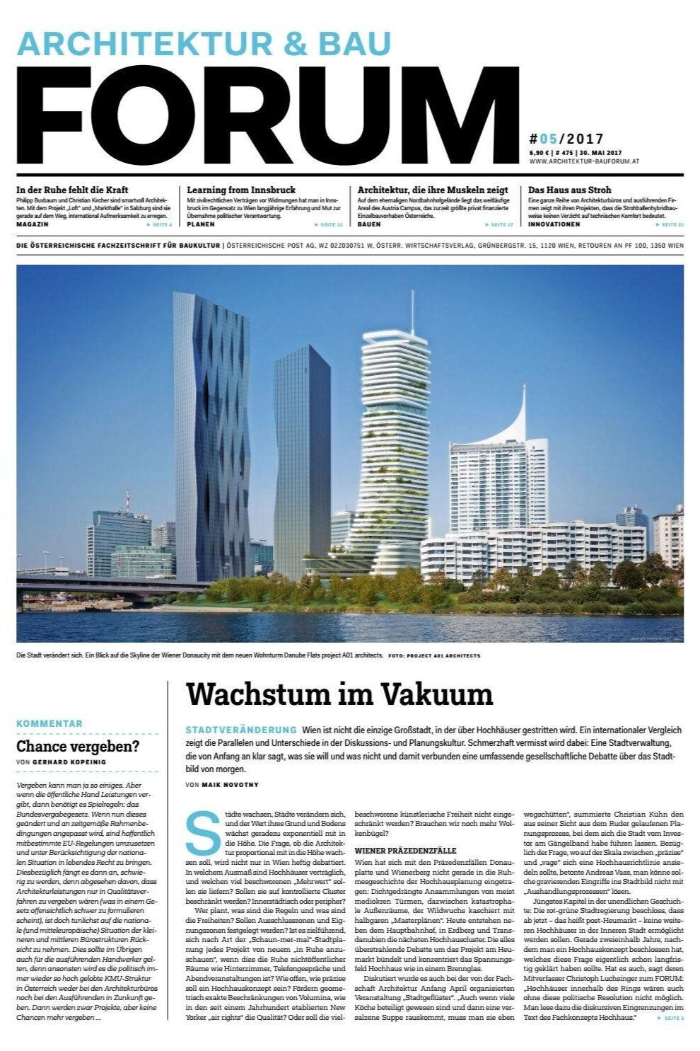 Growth in a vacuum - Coverstory in FORUM