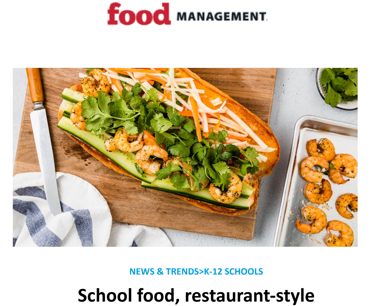 Food management article