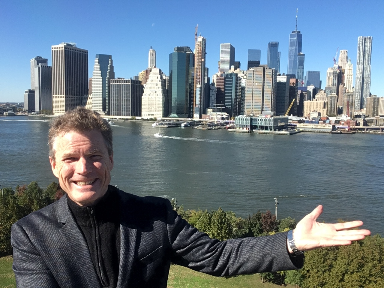 Brooklyn NYC after presenting at Mastercard. This was the backdrop they gave me!.JPG