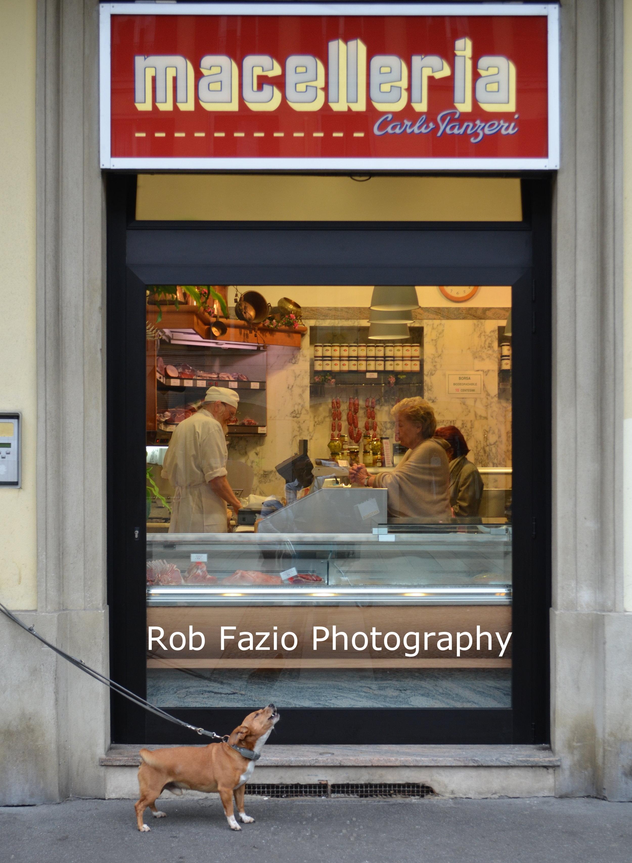 Butcher Shop Dog, Milan Italy