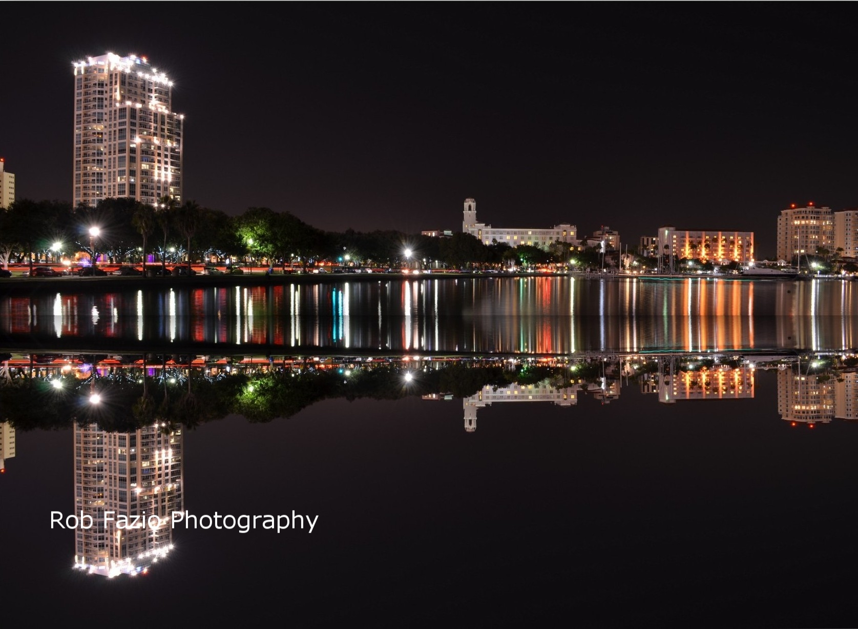 Bayshore at Night Reflection