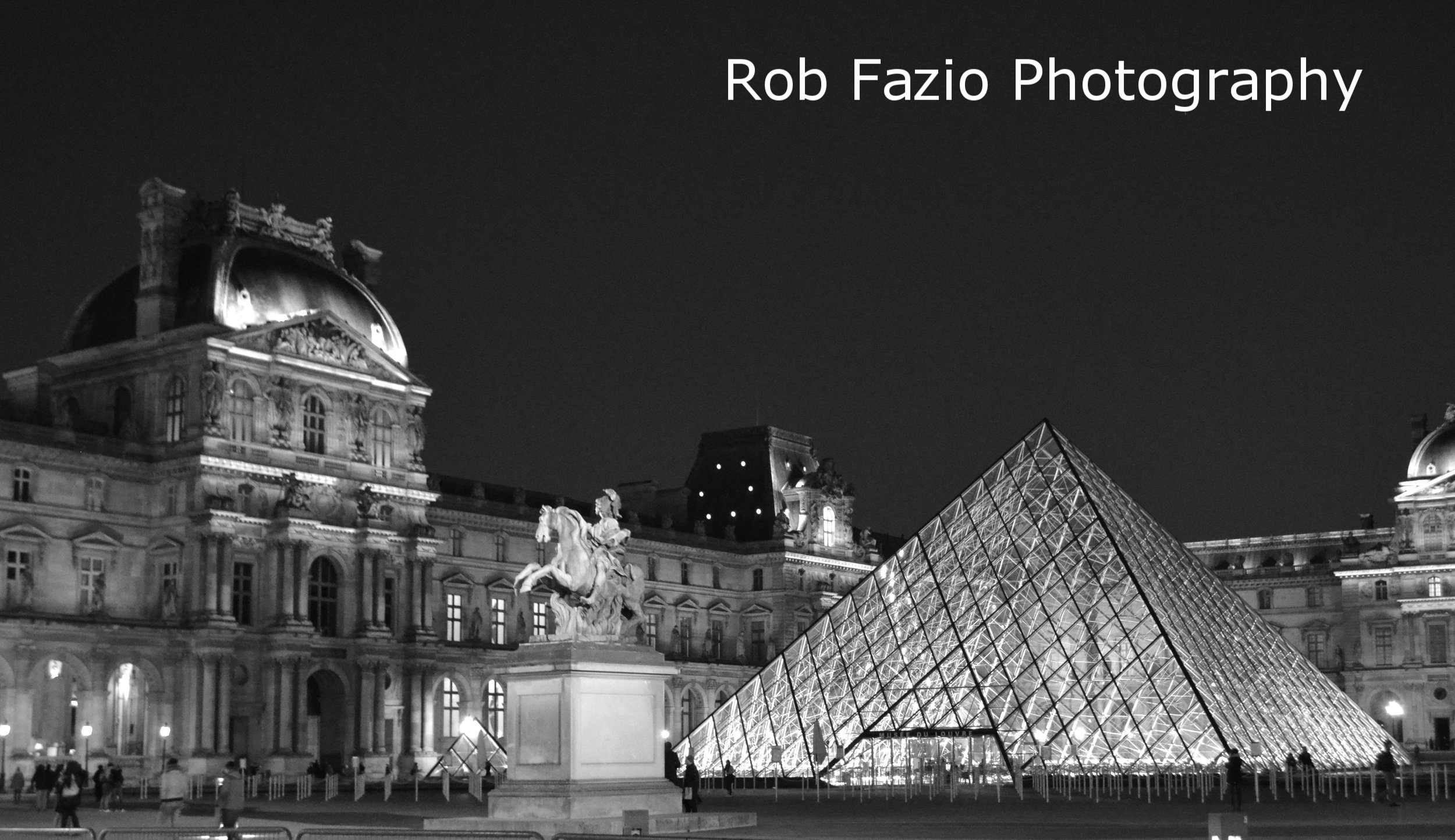 Louvre Entrance at Night