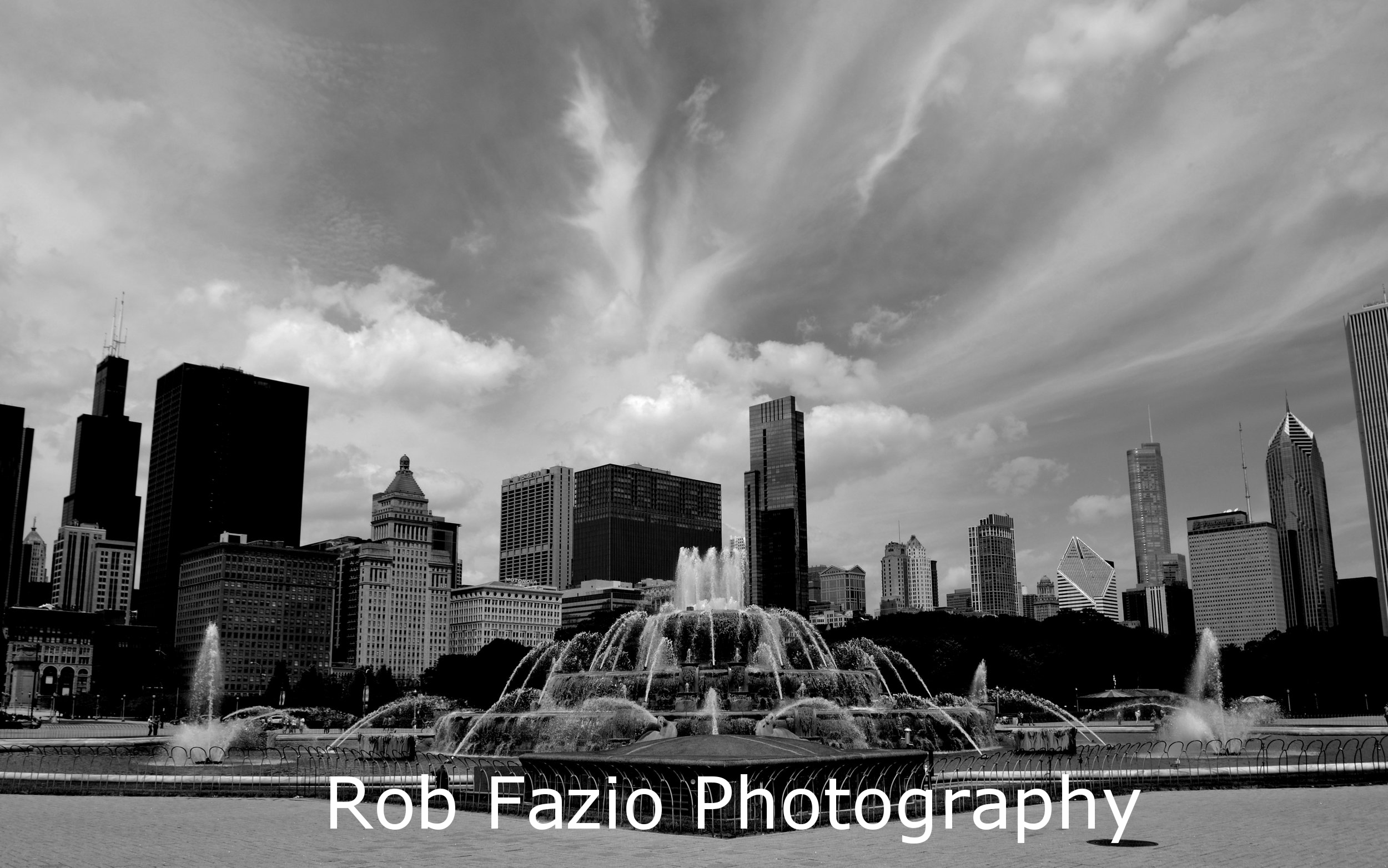 Buckingham Fountain B&W