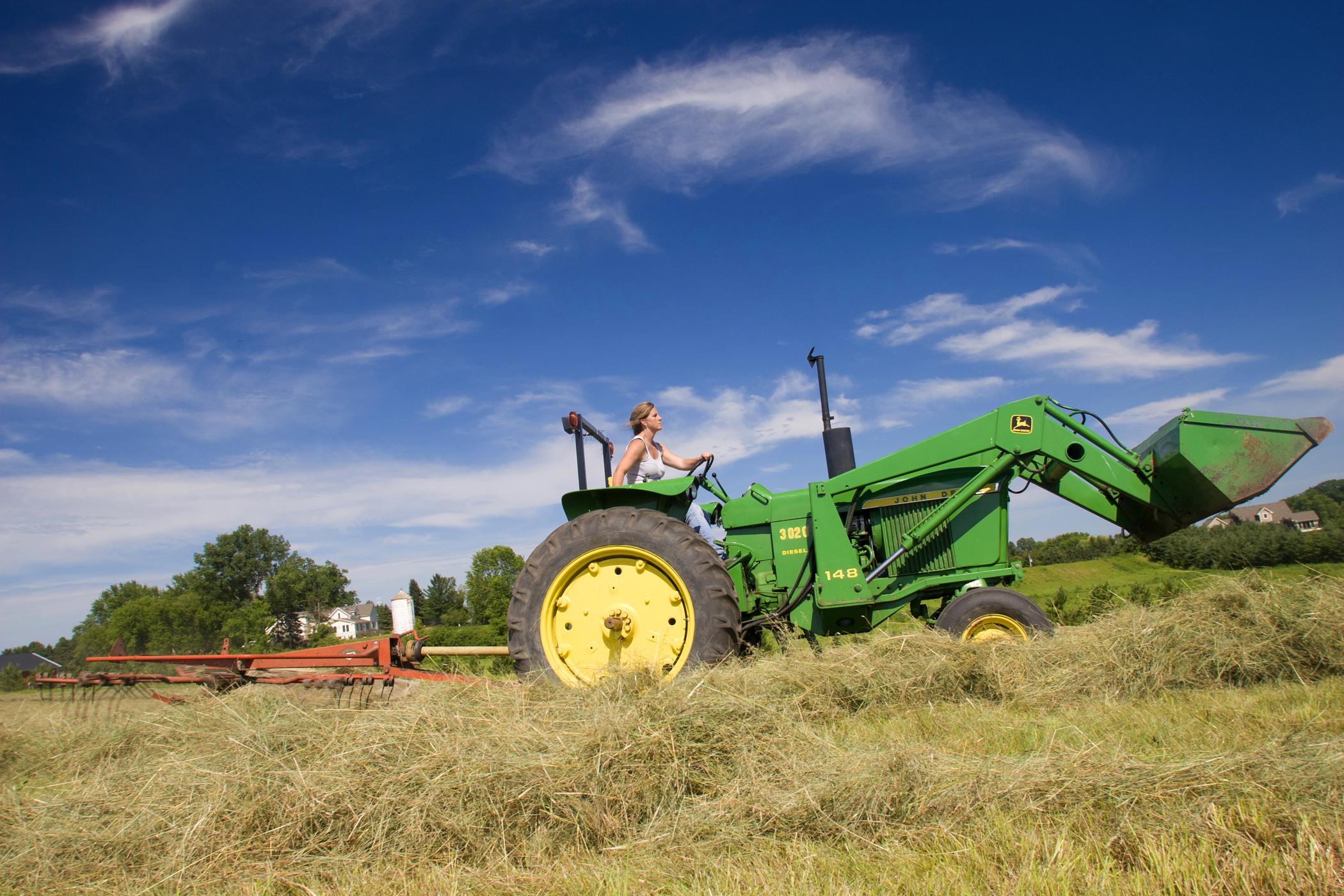 Farm photography haying minnesota