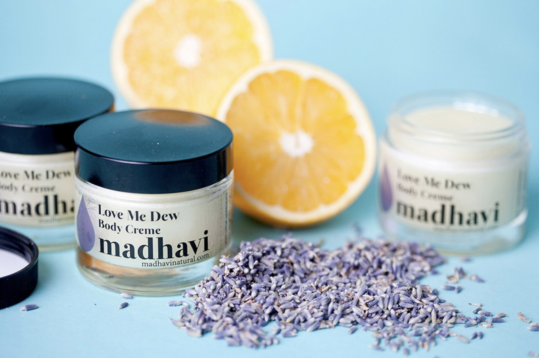 product photography lotions lavendar