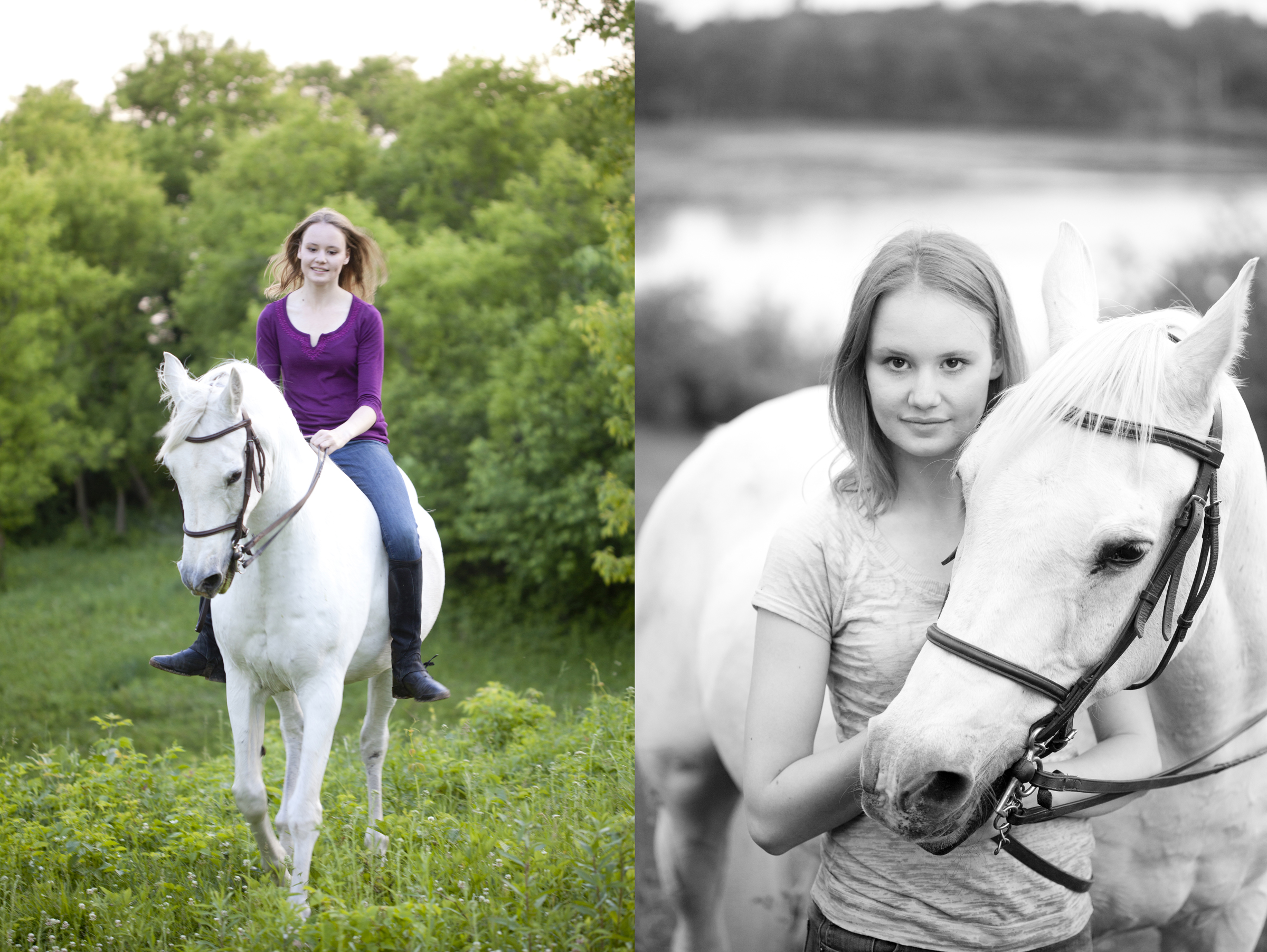 senior portrait photography girl on horse