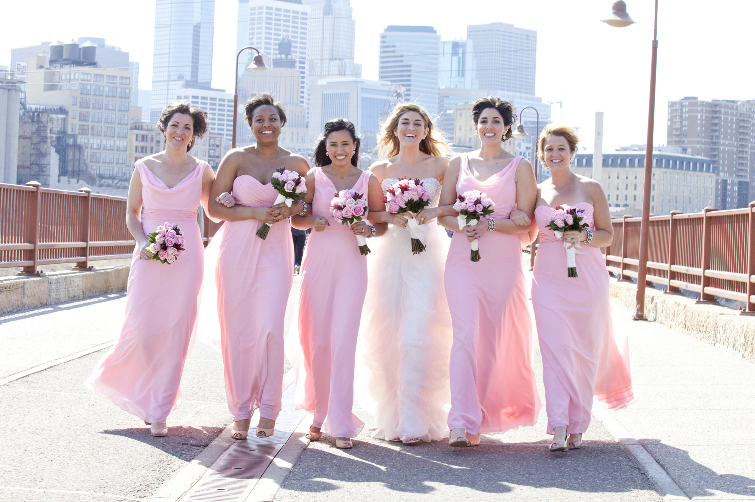 Wedding photography at stone arch bridge minneapolis