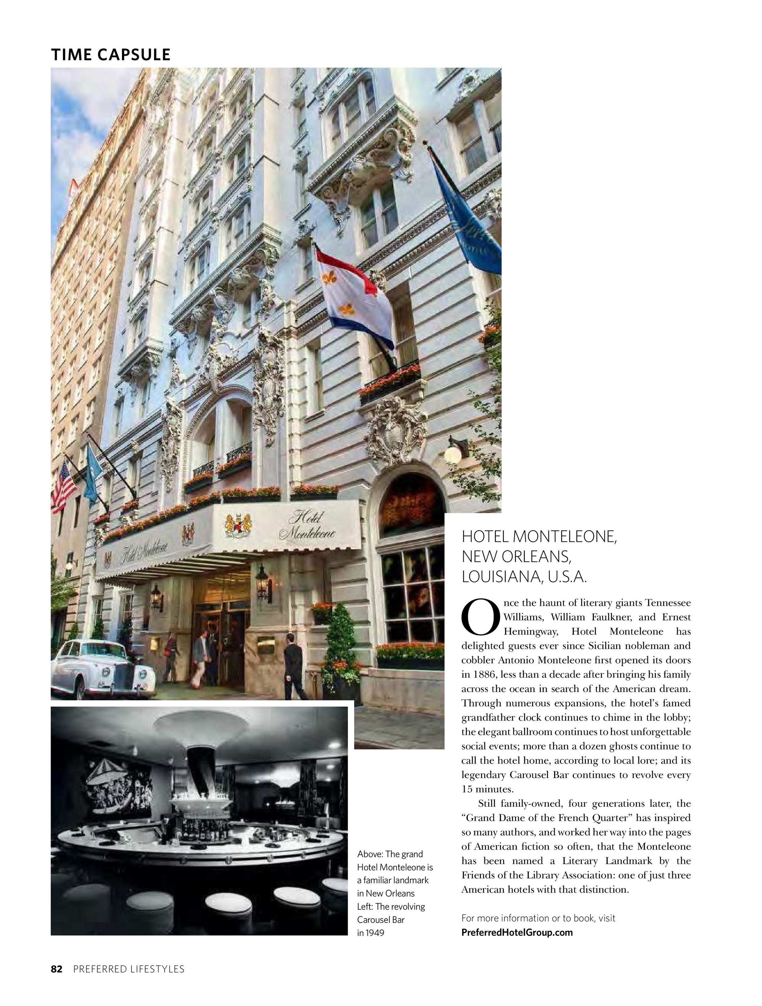"""Time Capsule: Hotel Monteleone,"" Preferred Lifestyles (Vol. 10, 2014)"