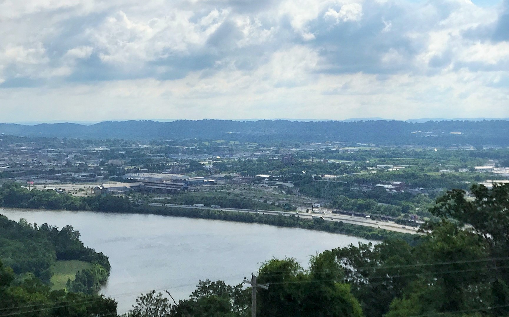 The view of Chattanooga from Lookout Mountain.