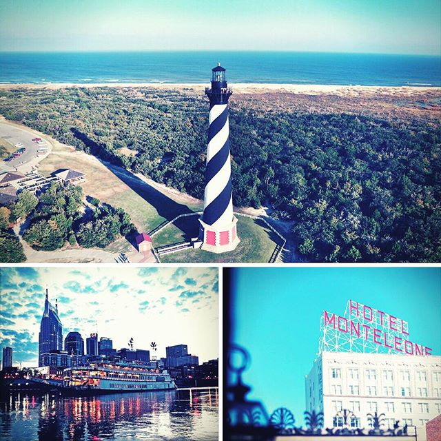 Looking to travel to the South in 2018? Take a quiz to see which Southern city is your ideal travel destination: http://bit.ly/2q7Y5Qh 📸:lighthouse - @theouterbanksnc, nashville - @visitmusiccity, Hotel Monteleone - @visitneworleans #thetravelingsouthernbelle #nccoast #southerncharm #thesouth #wheretonext