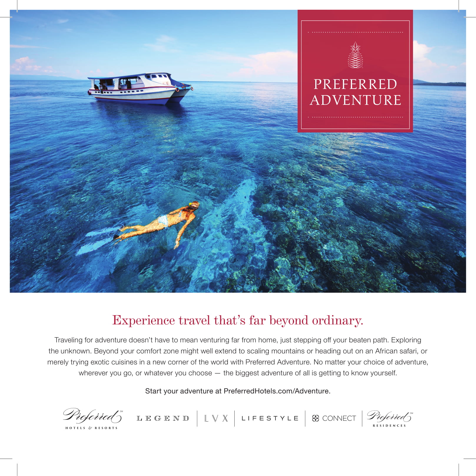 Ad copy for hotels that feature adventure programs
