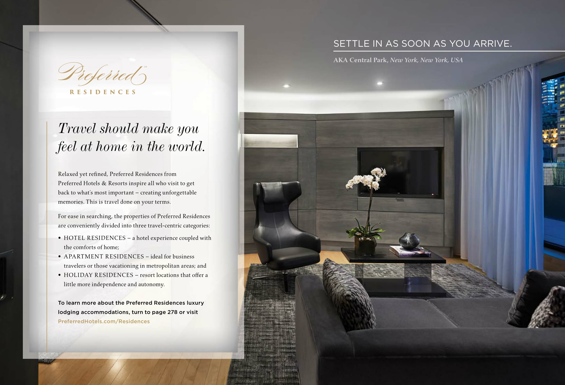 ad copy for residential hotels