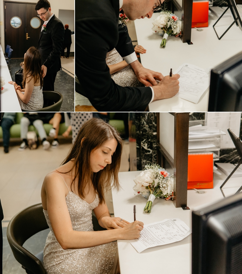 getting married / eloping at Manattan City Clerk