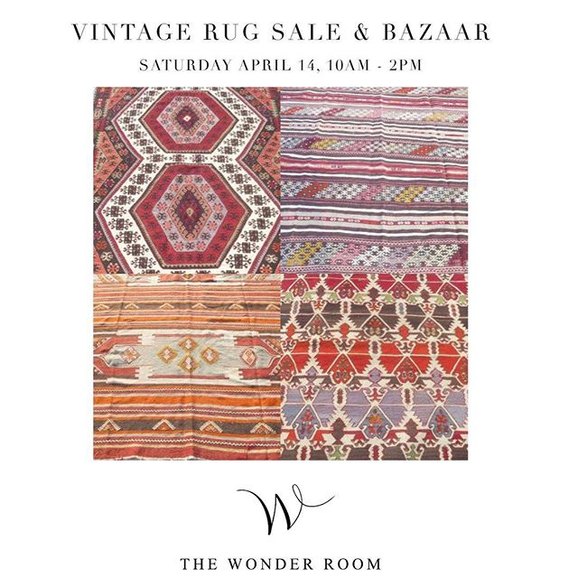 We ❤️ rugs! We are having a #vintagerug sale @wonderroomoc this SATURDAY April 14 from 10 am until 2pm.  Sophie's Bazaar will be here with vintage rugs including #kilims #angora #oushak and #hemprugs - all handwoven and handknotted in Turkey.  Bring your measurements because we will have all sizes big and small.  PLUS we will be extending our designer pricing on these rugs to the public.  We are located at 1605 Monrovia Ave in #westsidecostamesa.  Lots of parking in the back.  Hope to see you there! . . . #interiordesign #interiordesigner #ocinteriors #ocinteriordesigner #ocdesign #ocdesigner #costamesa #newportbeach #newportcoast #irvine #orangecounty #shoplocal #rugs #oushakrug #wonderroomoc #turkishrug #moroccan #boho #bohostyle