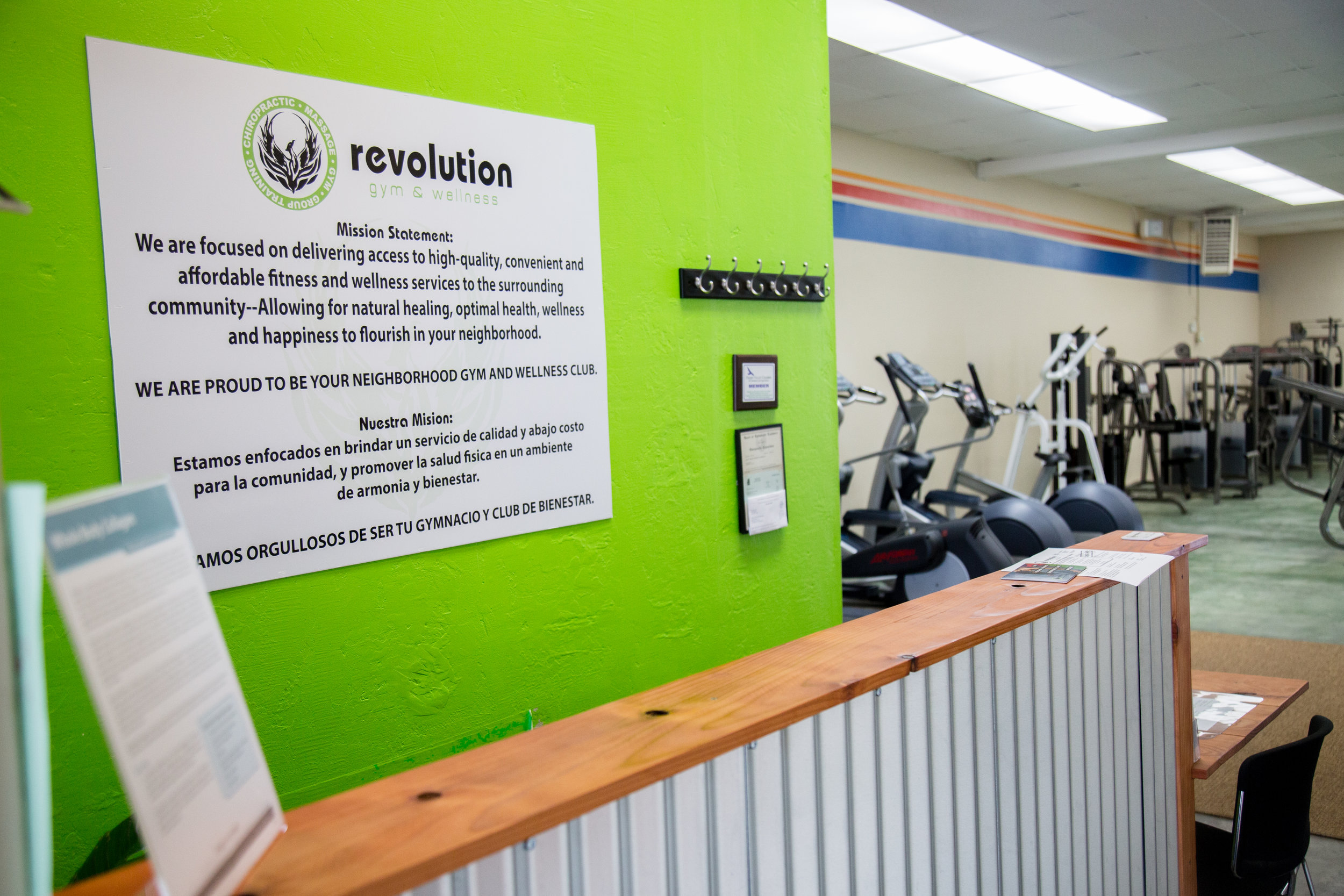 Revolution Gym, Wellness and Chiropractic   978 E. Lake Ave. Watsonville, CA. 95076  (831)288-0627   Follow on:  Facebook  Visit website  HERE