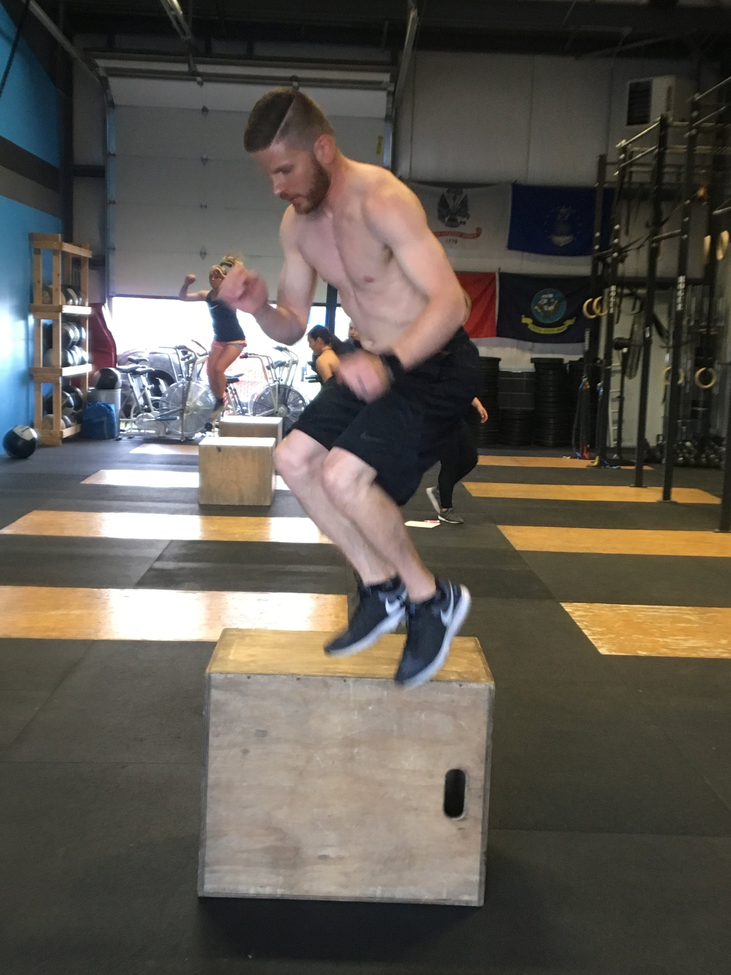 Mike aka Money Mike gettin' it on those Box Jumps!