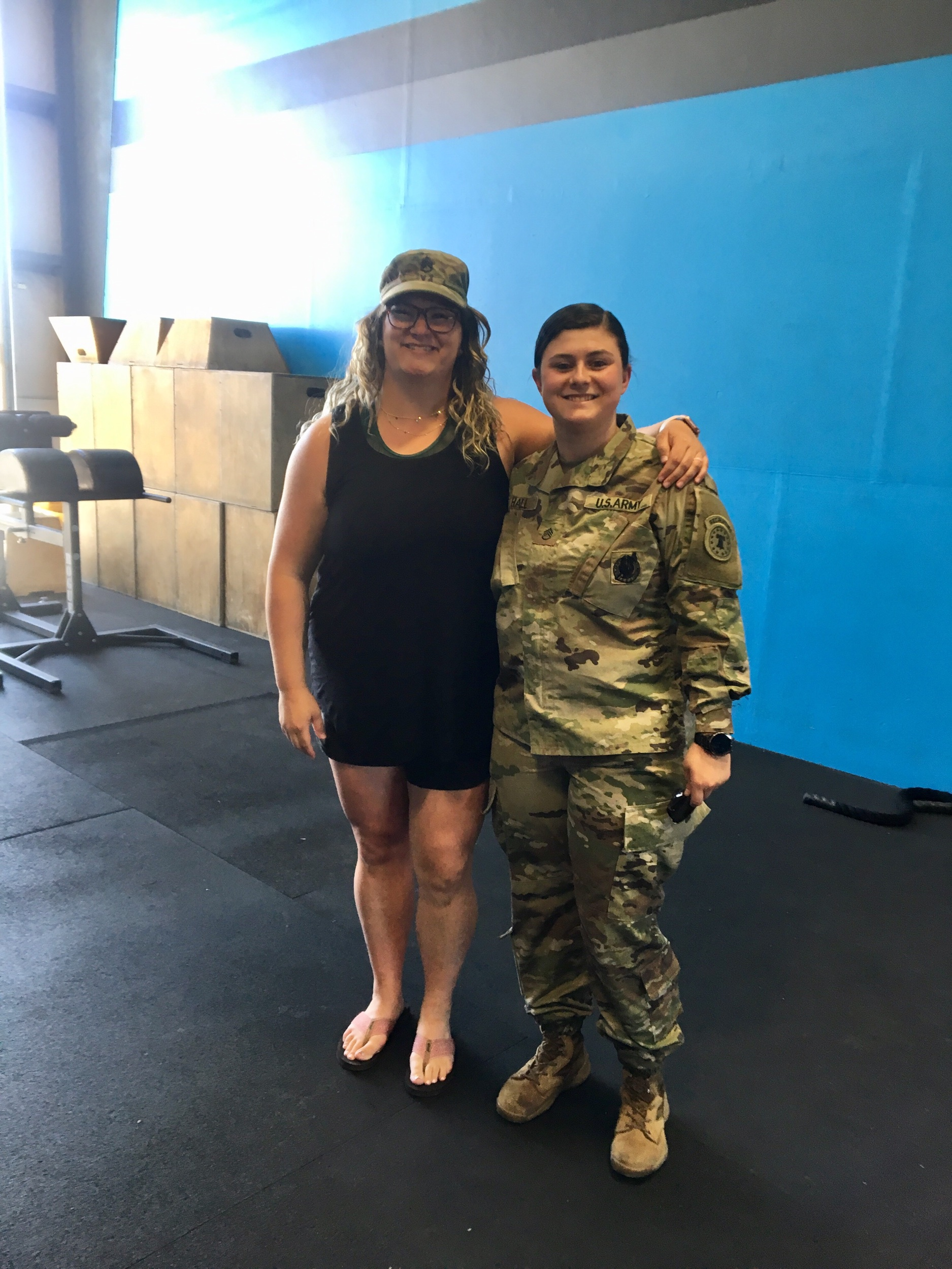 SSG Savannah Hall with me at her re-enlistment ceremony we held yesterday at the gym!!!! ❤️