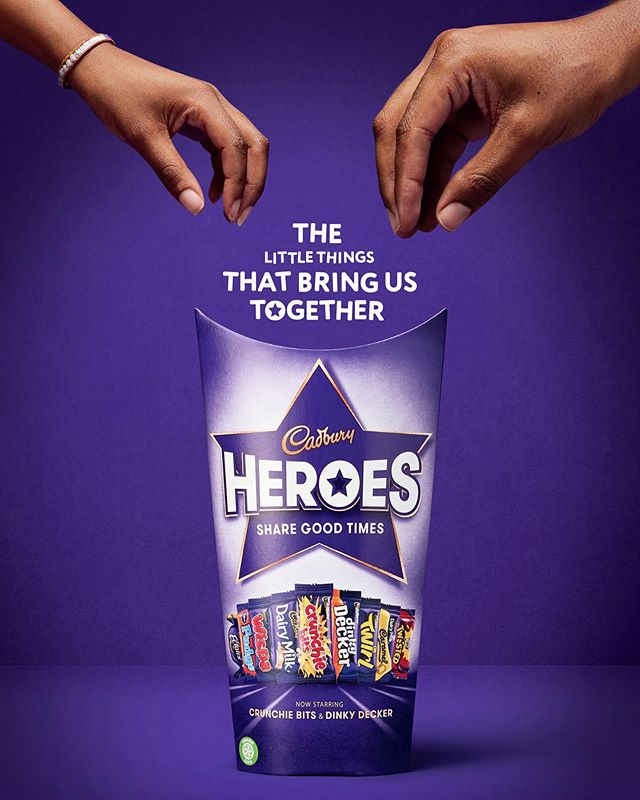 New Work Monday! New Cadbury Hero's campaign shot in Brick focusing on the little things that bring families together! Check out the @cadburyuk mini series on YouTube 'Families Reunited' 🍫 📷 @TalSilverman ⚡️ Creative brief @VCCPLondon