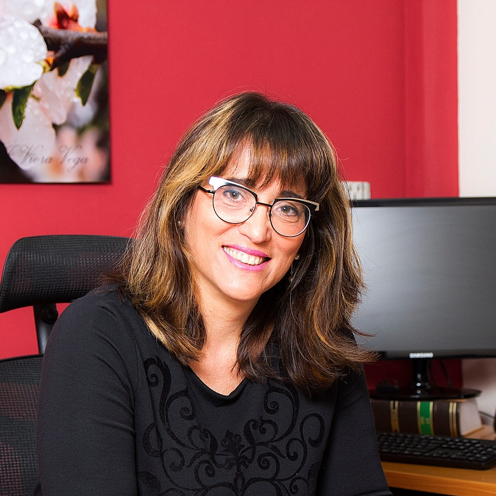 Conchi Viera ha pensado la organización del despacho atendiendo la eficiencia y la comodidad del cliente.