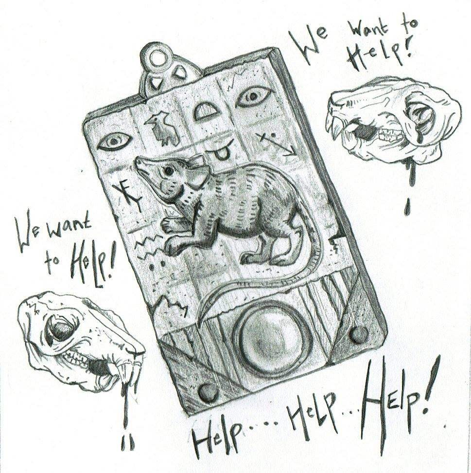 A preview of one of the sketches inside the book. This one is based off of  Rodent God .
