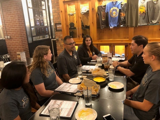 Rudd Scholars meet with staff and advisors at Fort Hays State University.