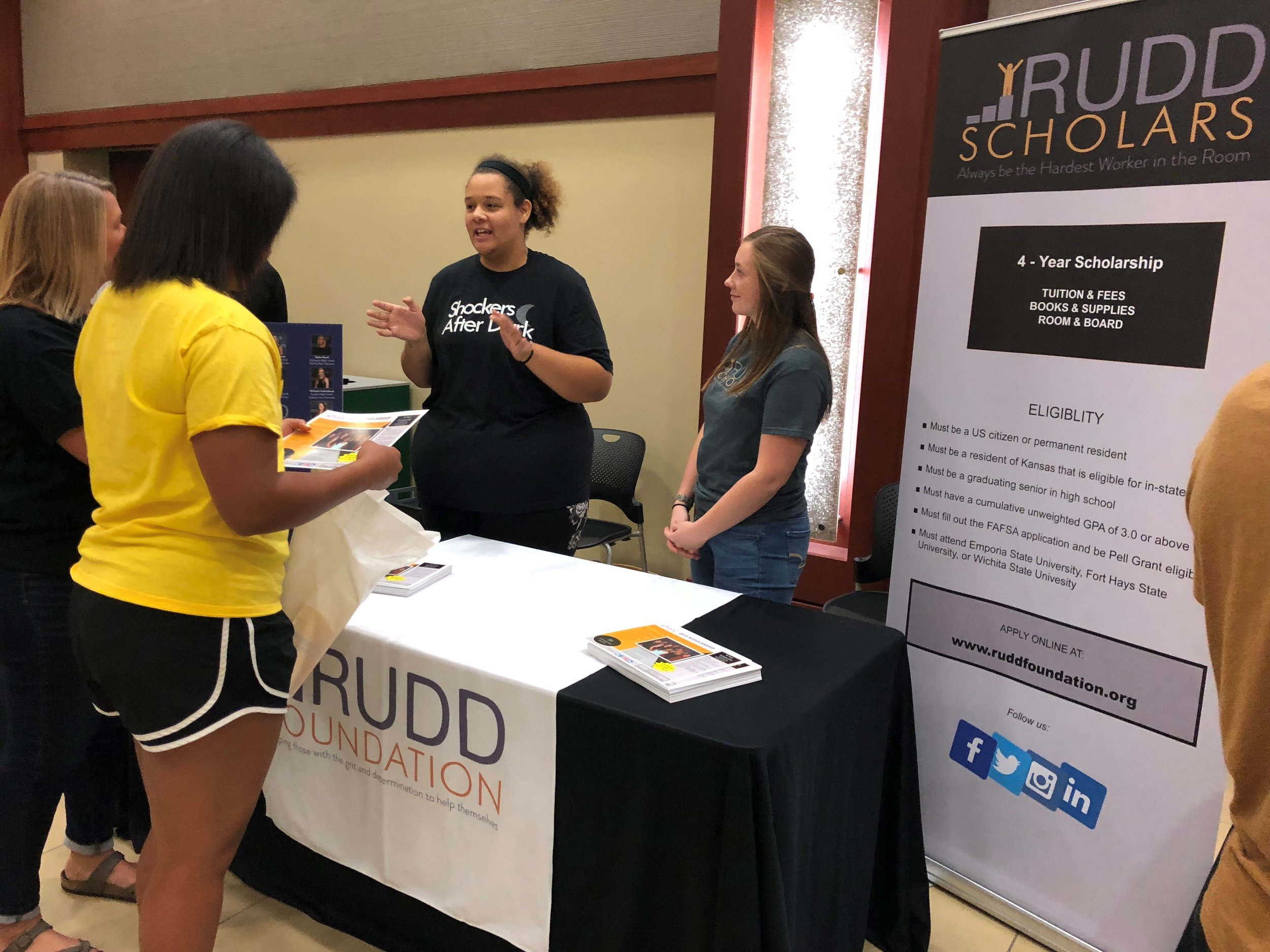 "Rudd Scholars help recruit the next class. ""To whom much is given, much is expected."""