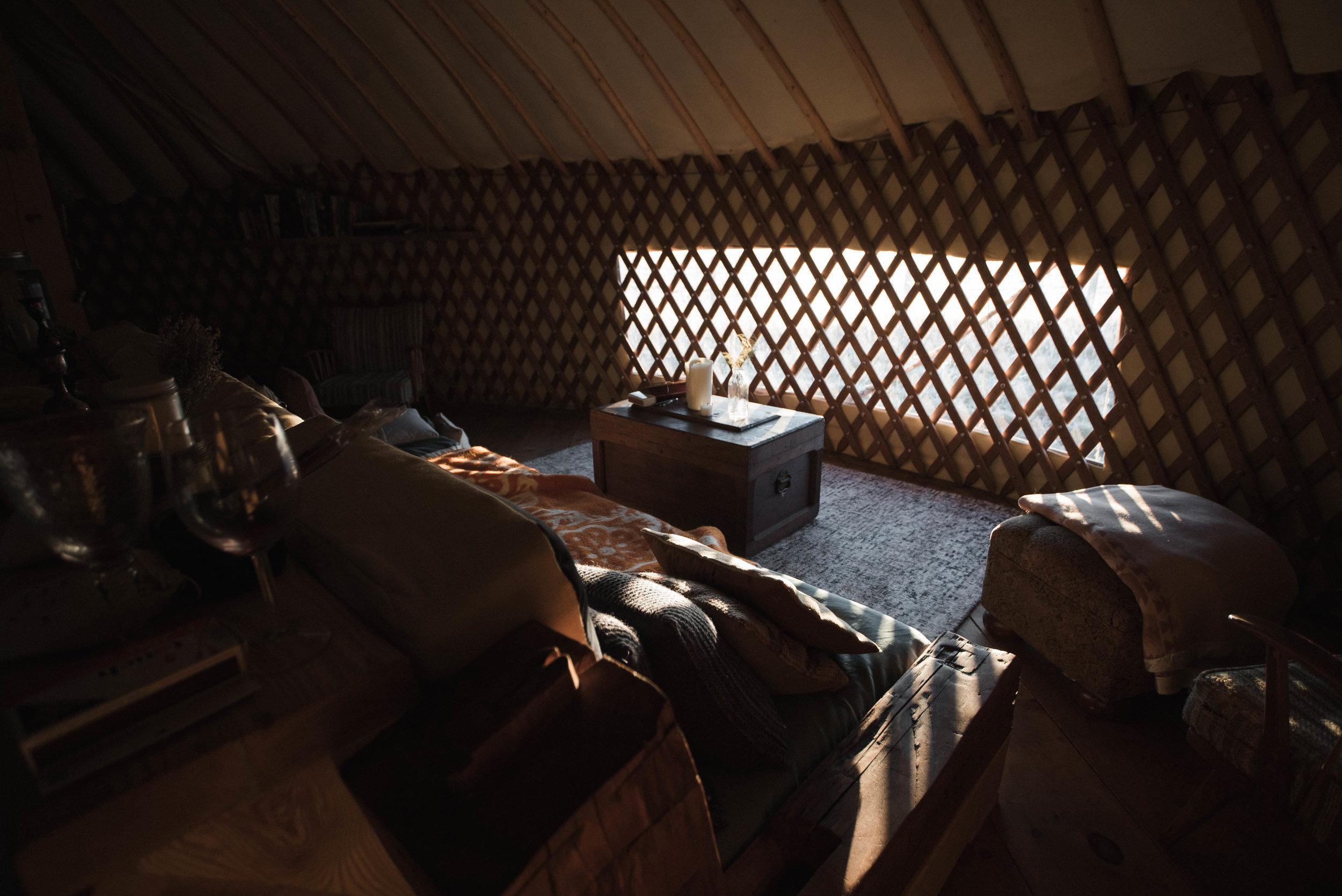 Yurt Camping at the Buffalo Farm