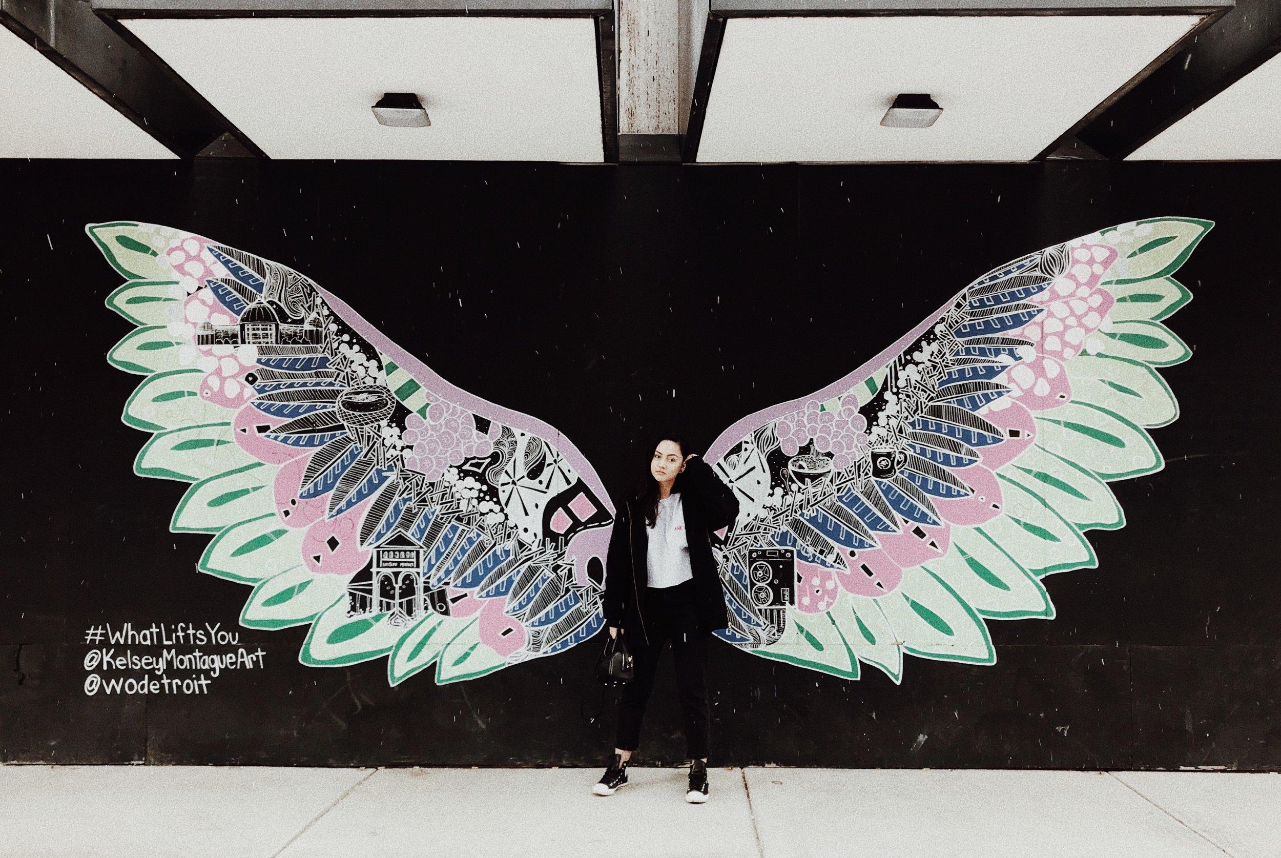 Wall art in Downtown Detroit