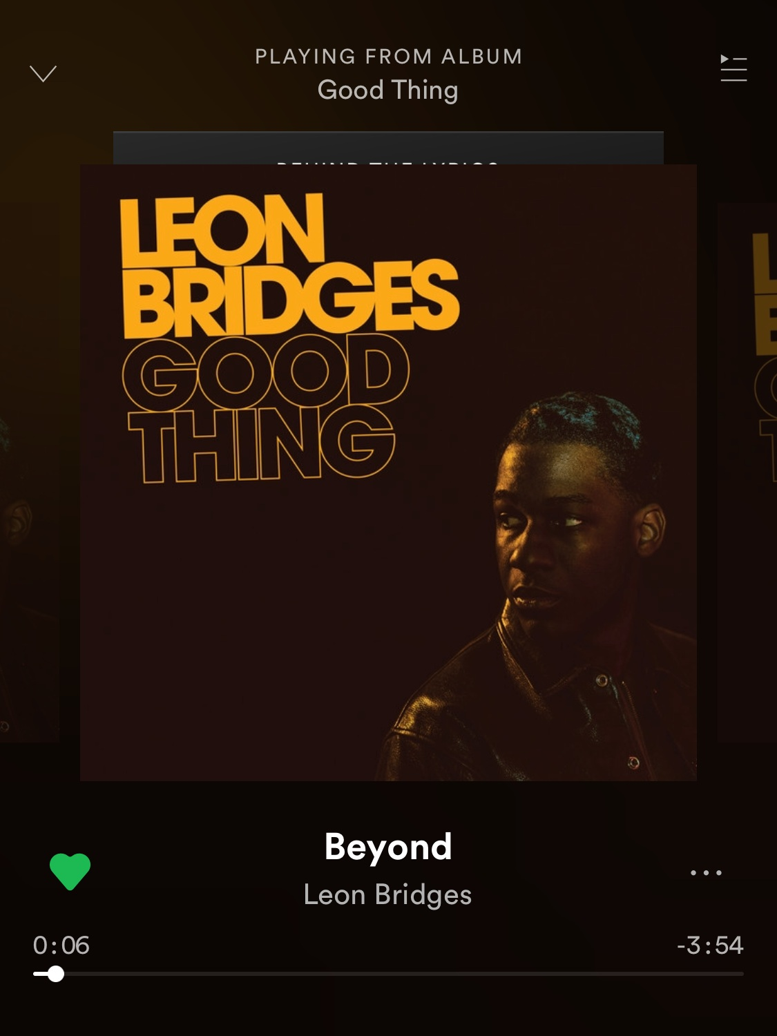 - Good Thing by Leon Bridges was one of my top played album of 2018, so I definitely need to include this here. So many good songs. Beyond was my most played song off the album.