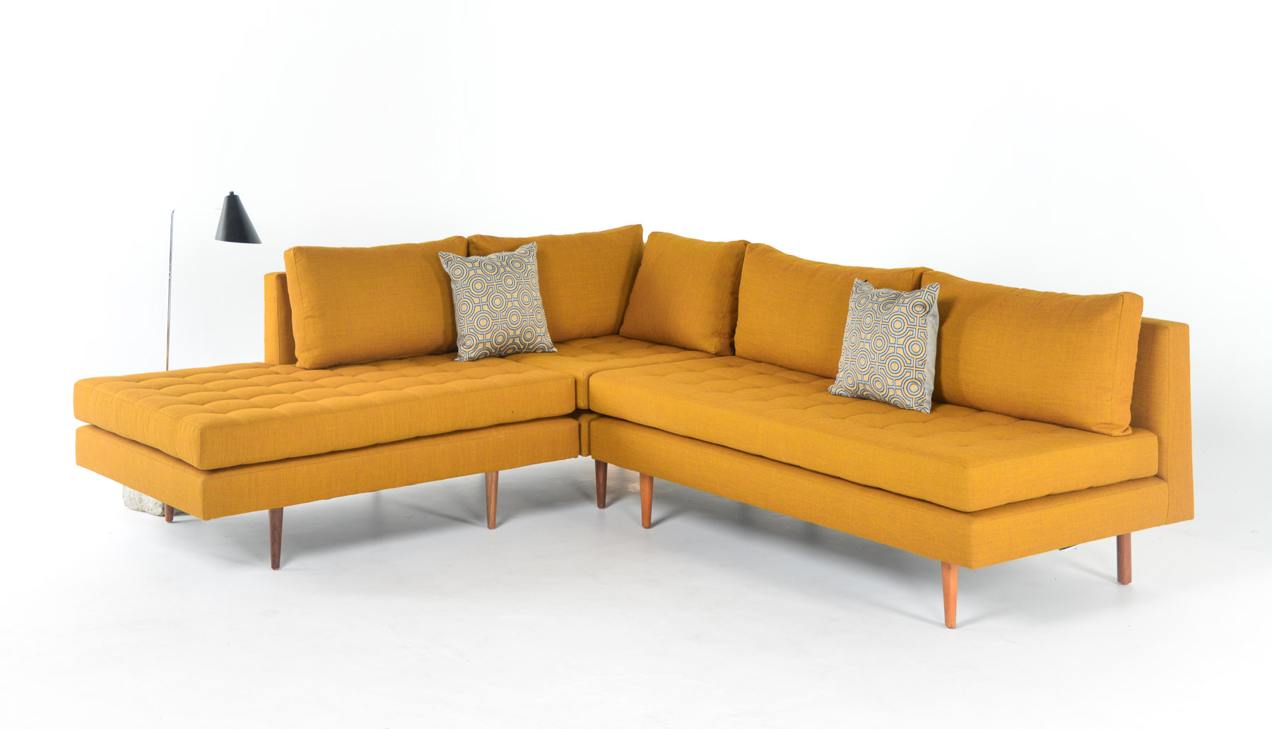 Shown here is 161-003 armless fullback, combined with 161-001 corner chair and a 161-008L.