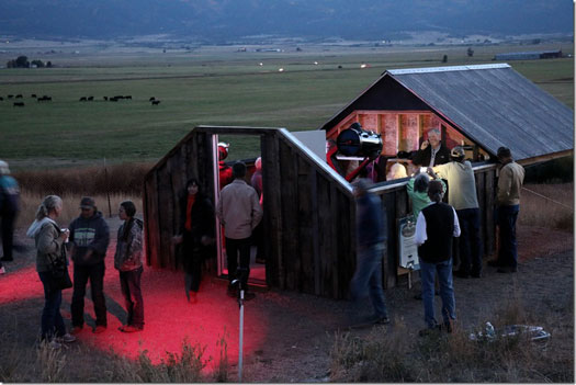 The observatory is operational for the lunar eclipse viewing party on September 27, 2015.