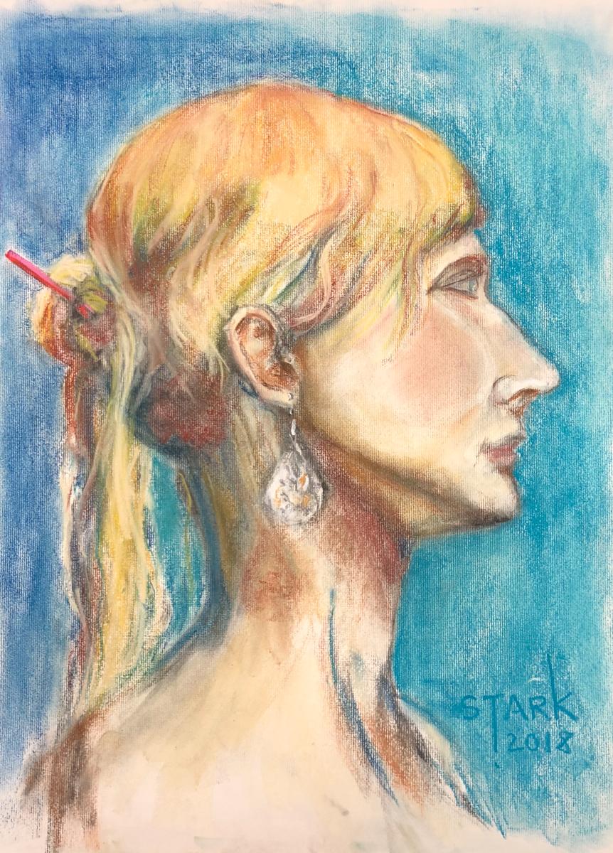 Kaitlyn (Pastel on Paper)