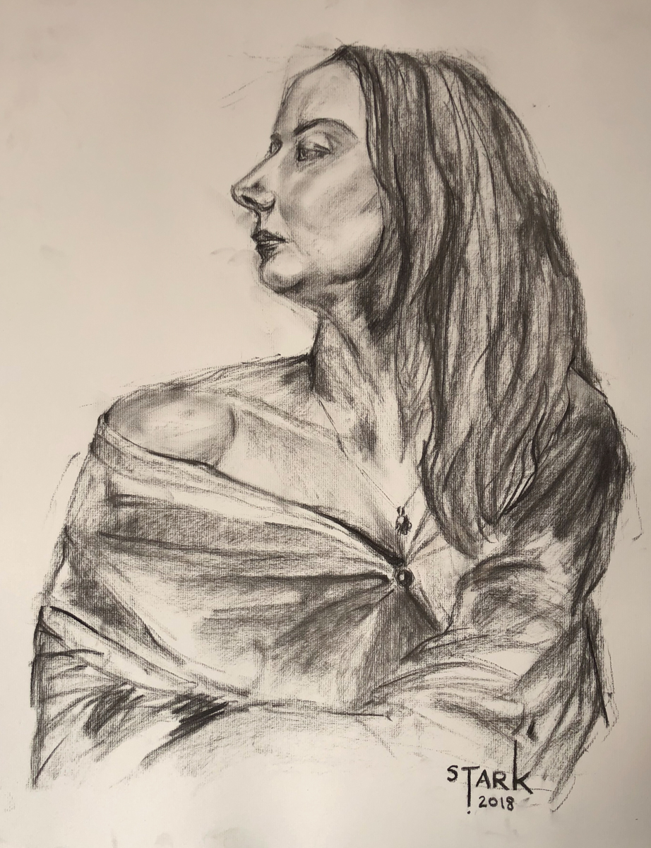 Anna (Charcoal on Paper)