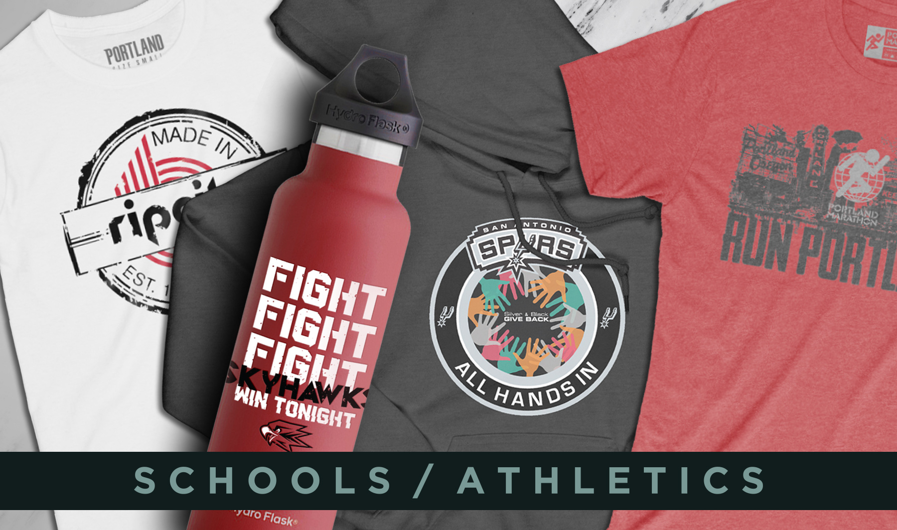 WMS Custom Products Anything Tee Shirts Garments - Blazers athletics schools southridge spurs portland marathon.jpg