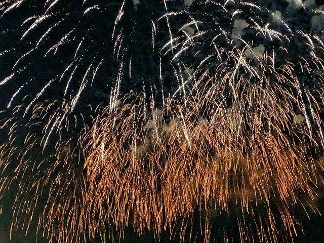 Ooh ahhh - finale of fireworks at Épargnés Fete du Pineau 🍷💥