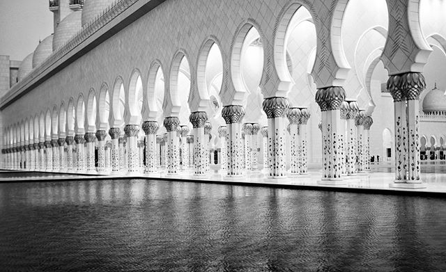Small part of the East Wing at the massive Grand Mosque in Abu Dhabi