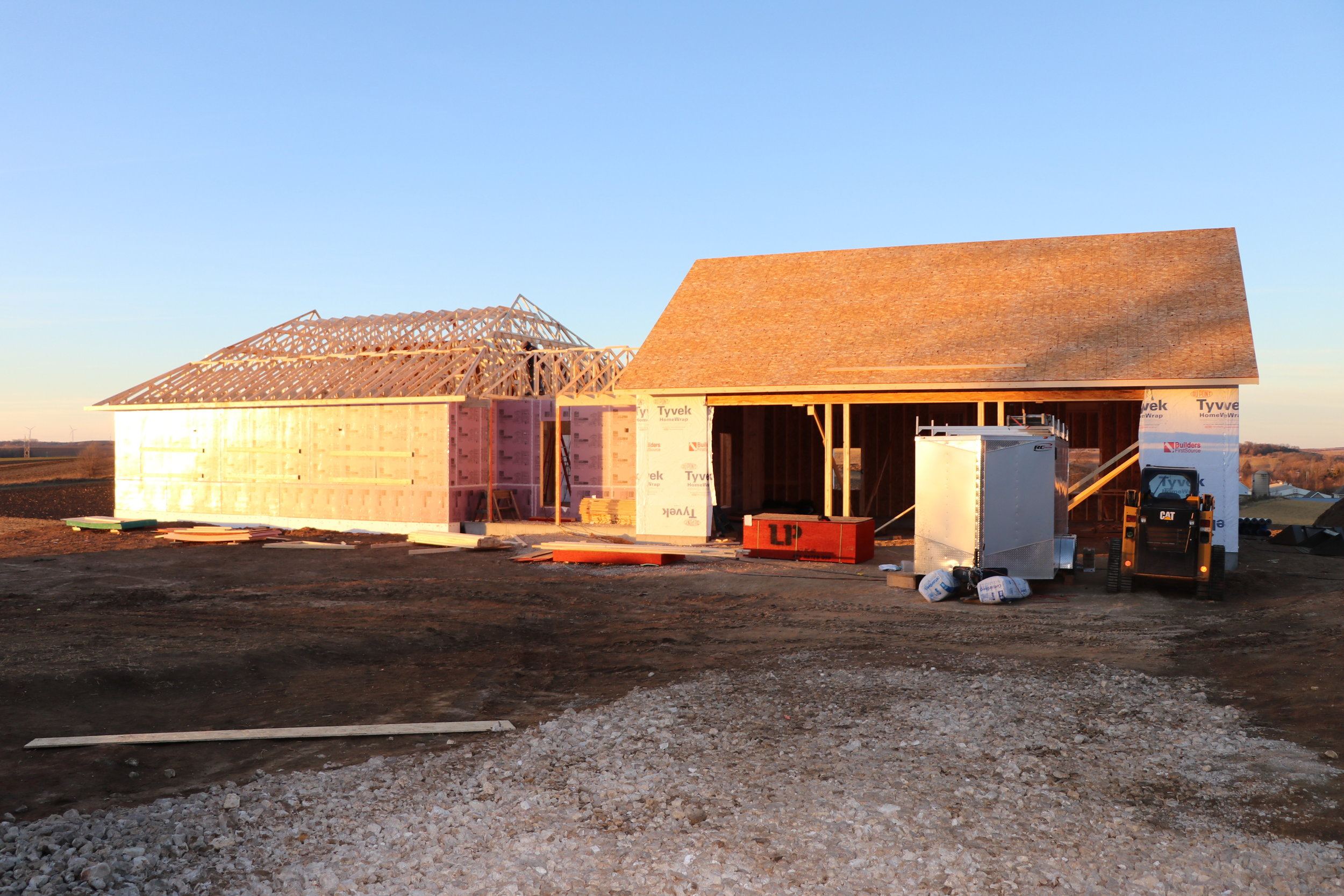 The front of the house is taking shape