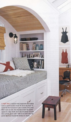 Inspiration for this nook from  Sarah Susanka's  book  The Not So Big House   http://bit.ly/notsobighouse
