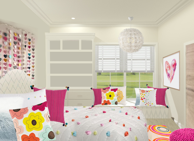 Rendering of our daughter's room by Lindsey