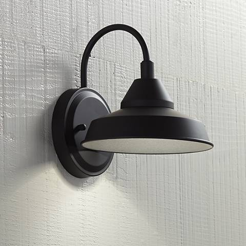 "Westley 8 1/2"" High Black LED Outdoor Wall Light"