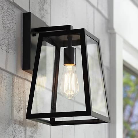 "Arrington 13"" High Mystic Black Outdoor Wall Light"