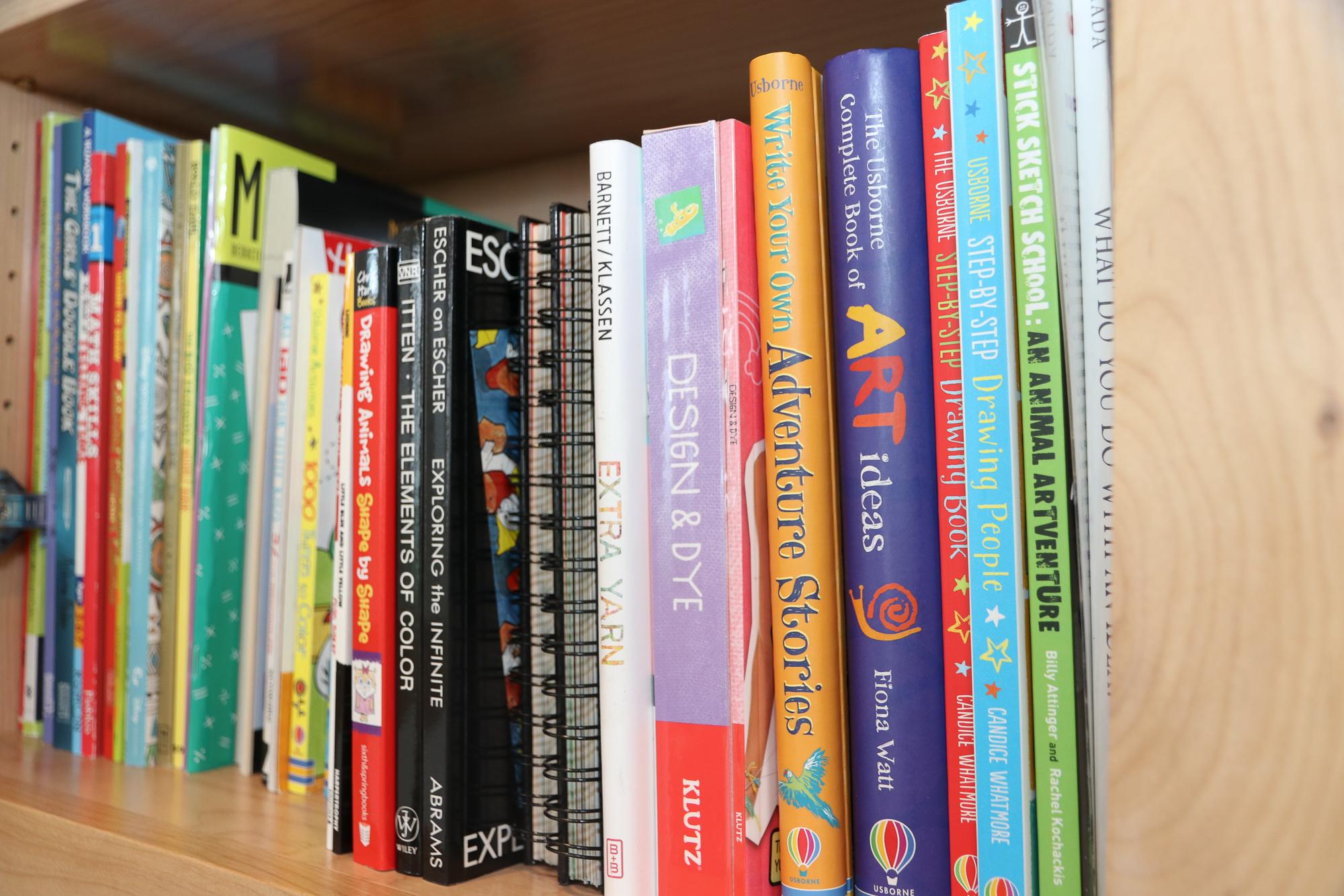 A shelf of idea books
