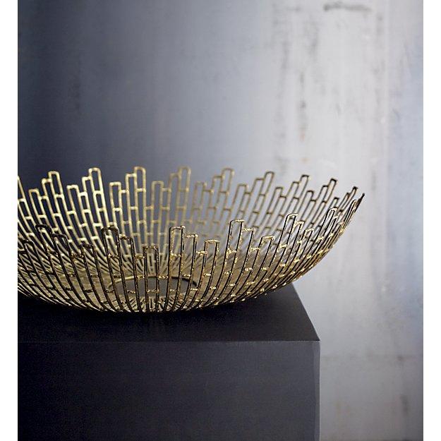 Starburst Brass Bowl
