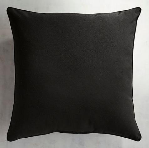 """Cabana Black 22"""" Pillow"""