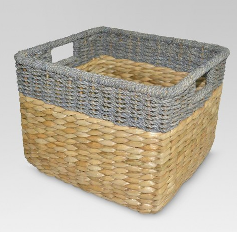 Seagrass Rectangular Wicker Storage Basket - Threshold™