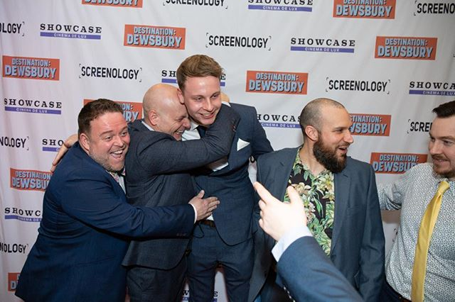 DESTINATION: DEWSBURY IS OUT ON ALL MAJOR PLATFORMS! This is my favourite photo of the whole thing. I'd just said to David and Tom 'we did it boys' on London premiere night. #DestinationDewsbury