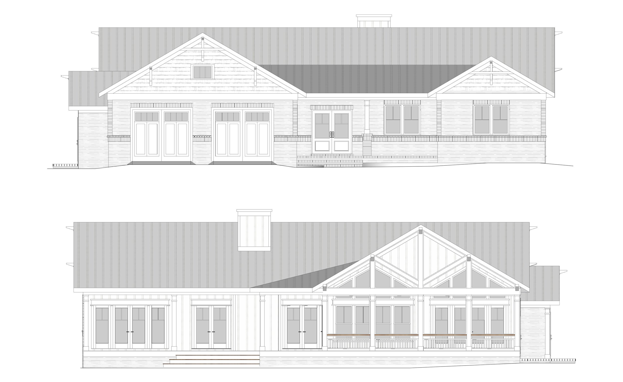 Top to Bottom : Front Elevation, Rear Elevation
