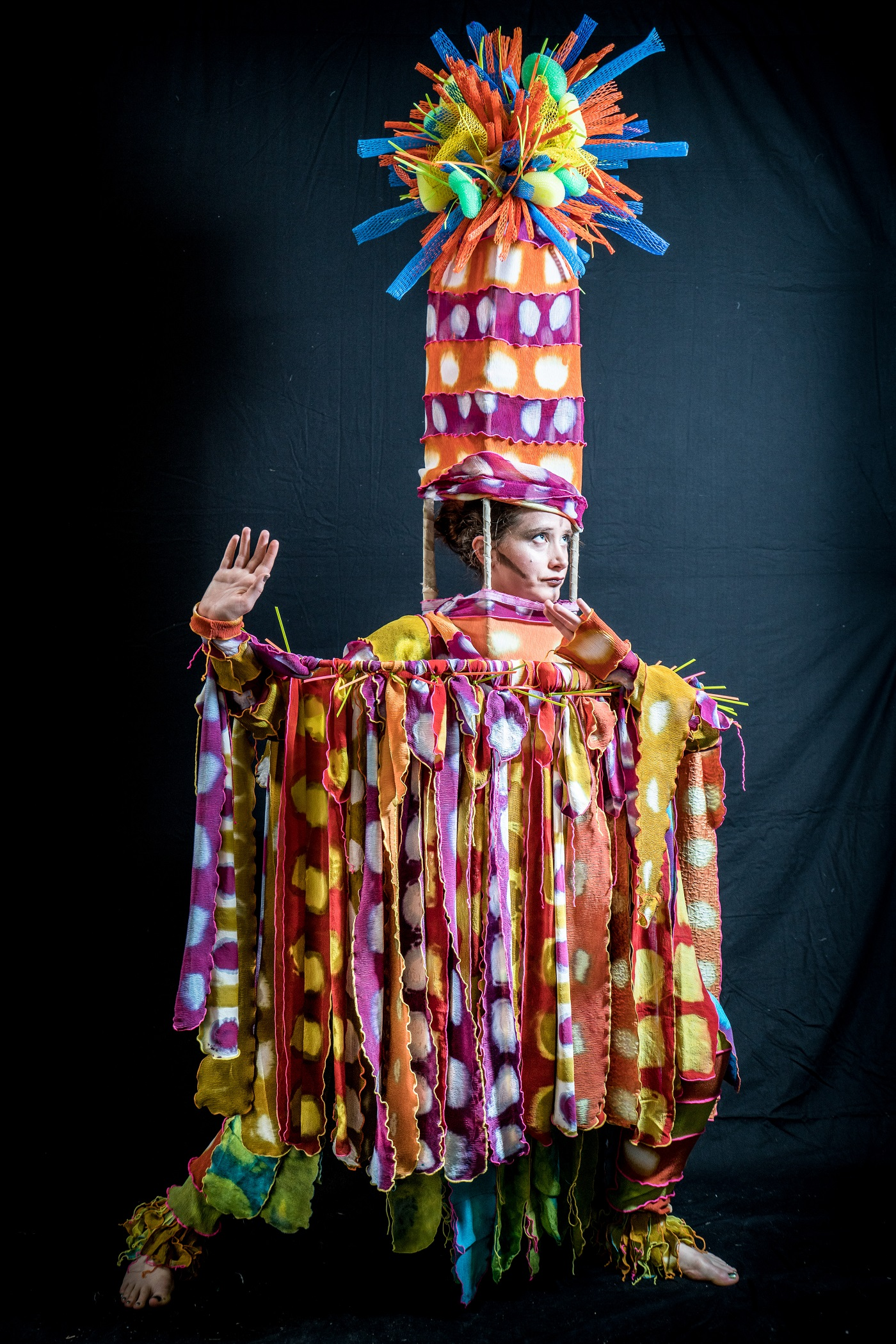 """Imagined Africa"" by Judith Bird, modeled by Ellie Taylor Photo Credit: Phil Baumgaertner"