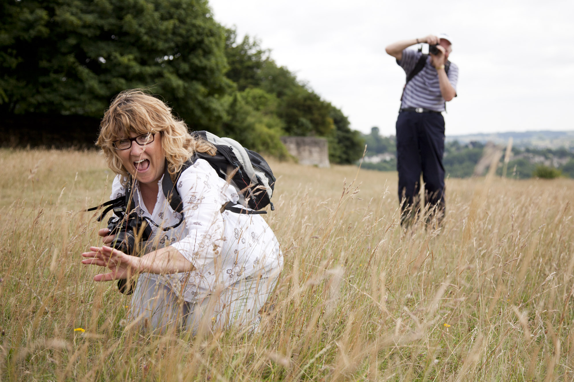people taking photos on mindful photography workshop walk in Stroud with National Trust.jpg