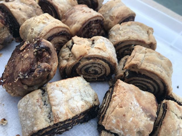 We're excited to be back at @urbancraftuprising's First Thursday next week! More pumpkin #rugelach, more fall flavored piroshki and of course, our signature @theochocolate and tahini Babka.